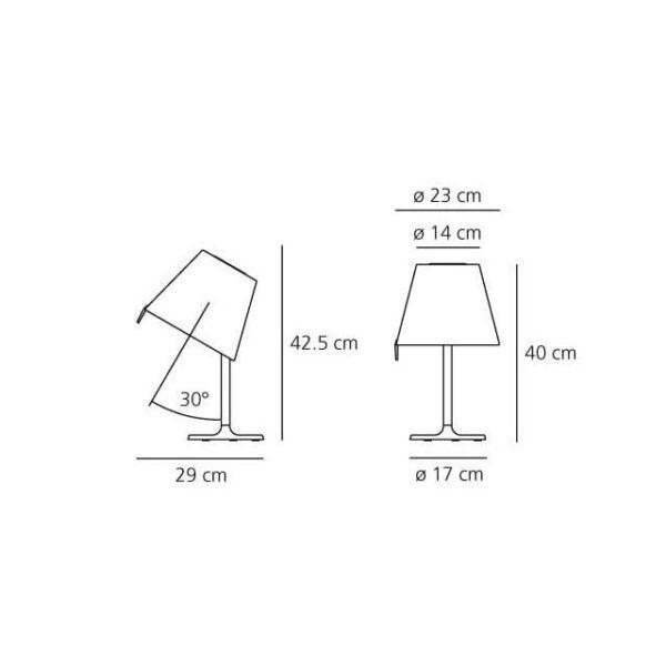 melampo artemide adrien gardere lampada da tavolo