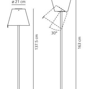 melampo artemide adrien gardere lampada da terra