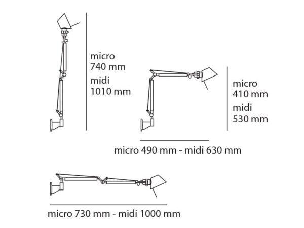 tolomeo micro parete artemide michele de lucchi giancarlo fassina