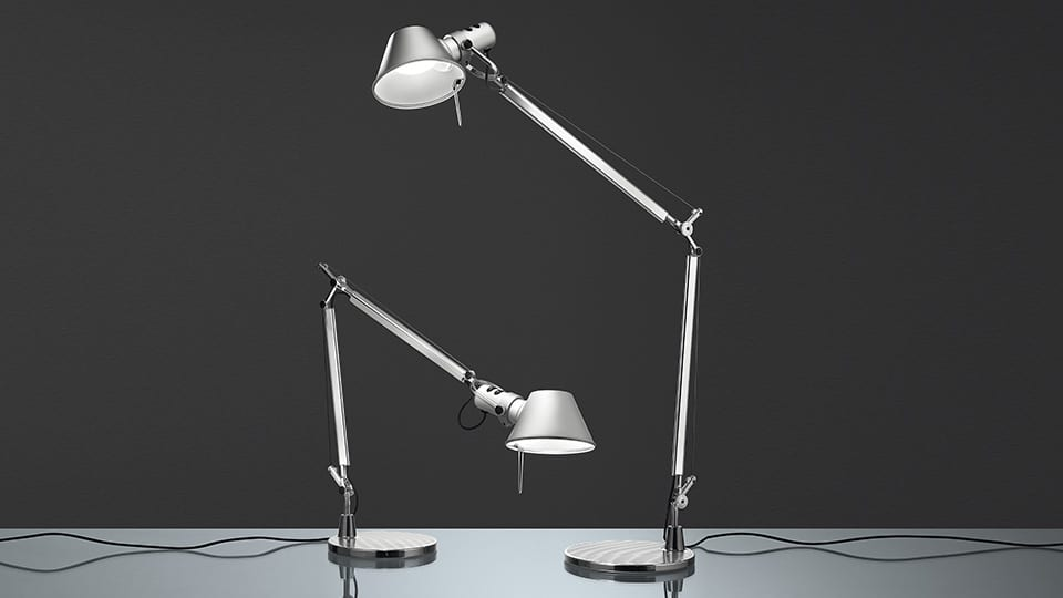 Artemide tolomeo mini led lid design