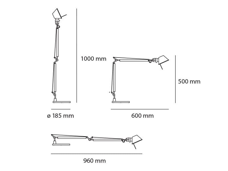 Artemide Tolomeo Midi Led Lid Design