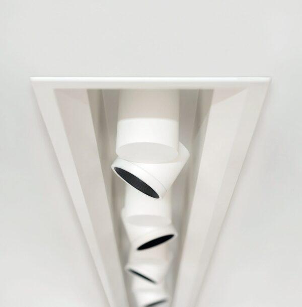 io arkoslight lampada da soffitto incasso bianco nero faretto proiettore
