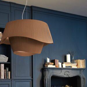 coco modo brian rasmussen plissé modoluce lampada a sospensione o soffitto