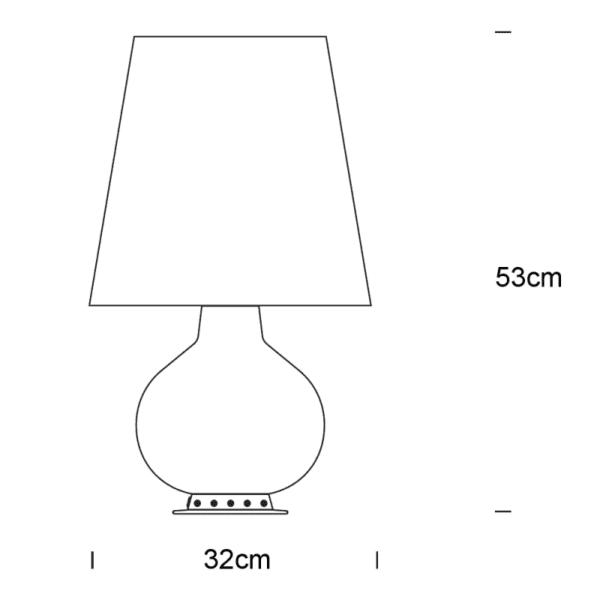 1853 media fontana arte lampada da tavolo