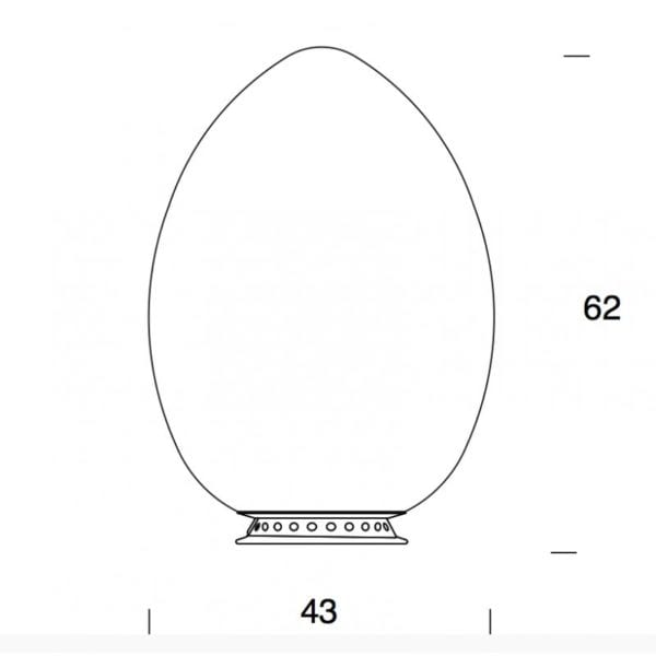 uovo grande fontana arte lampada da tavolo