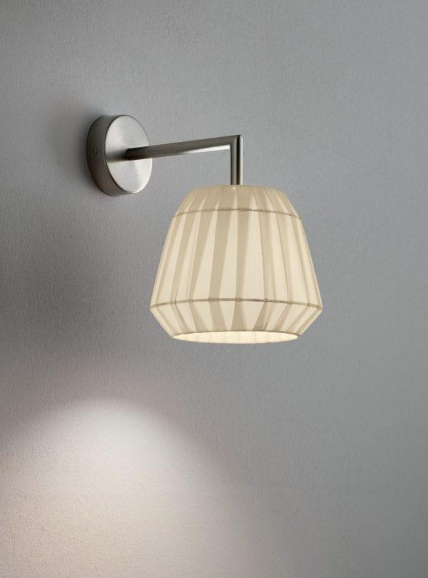 loto modo annarosa romano bruno menegon plissé applique lampada da parete