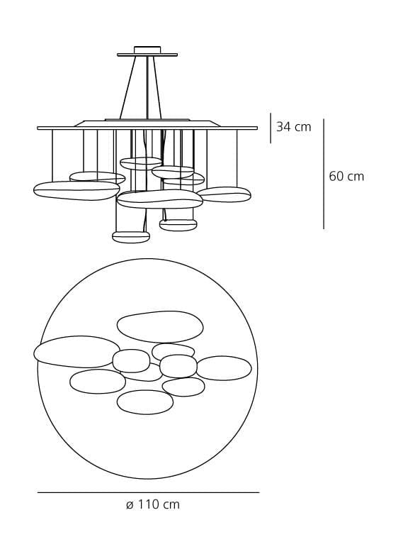mercury grande artemide lampada a sospensione metallo dimensioni