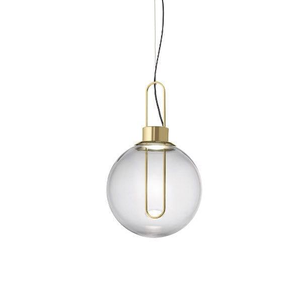 orb modo luce lampada a sospensione buro famos vetro