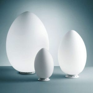 uovo fontana arte lampada da tavolo