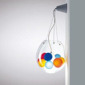 astra la murrina lampada da parete vetro di Murano illuminazione multicolore lid