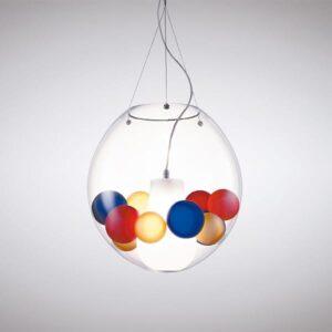 astra la murrina lampada sopensione vetro di Murano illuminazione multicolore lid