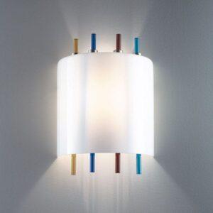 lollipop la murrina lampada da parete vetro Murano illuminazione multicolore lid