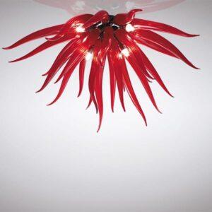 Medusa la murrina lampada da parete soffitto vetro murano rosso bianco nero lid