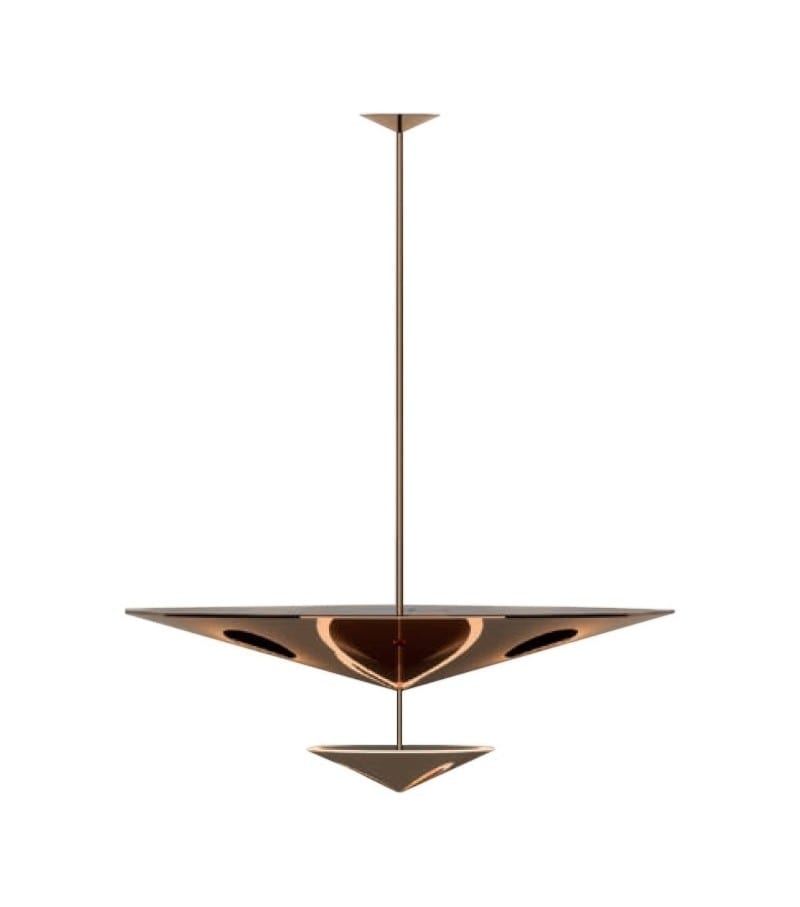 Penta narciso pendant lid design for Suspension 2 lampes