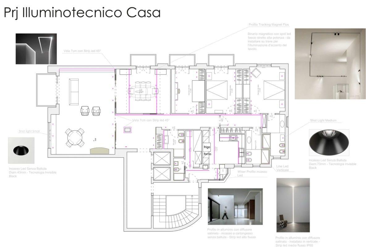 Progetto illuminazione casa lid design - Progetto casa design ...
