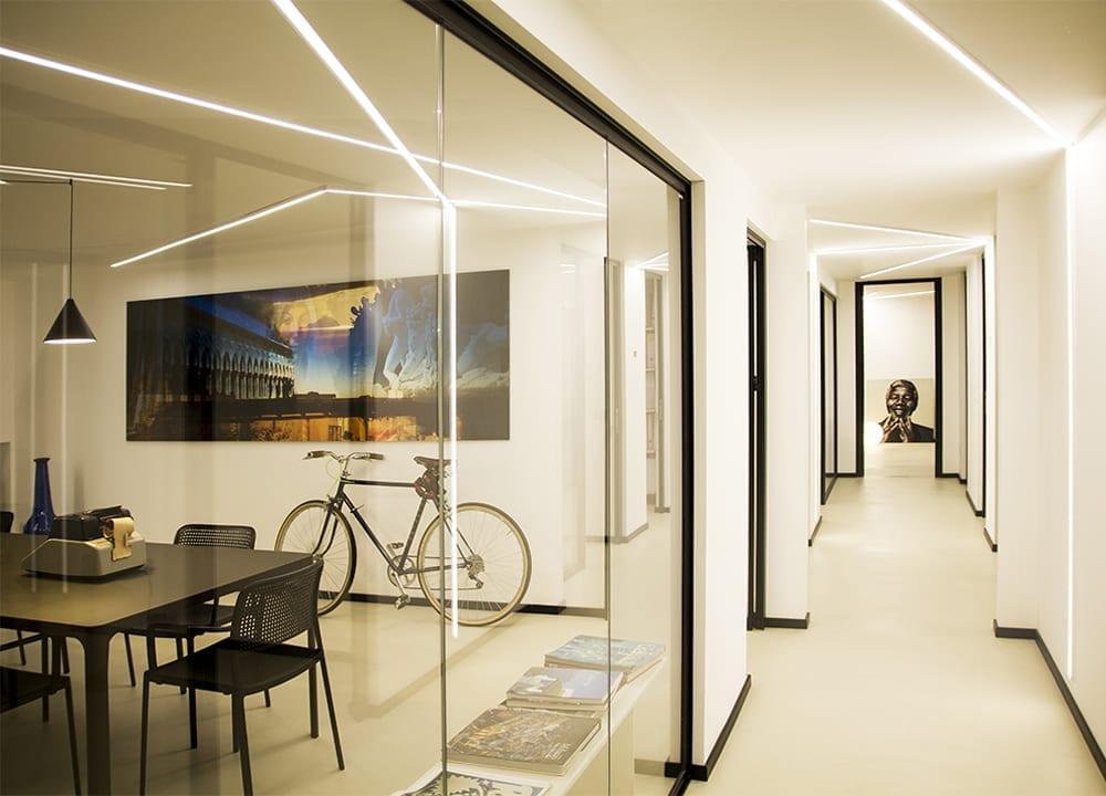 Progetto illuminazione ufficio studio i dt lid design