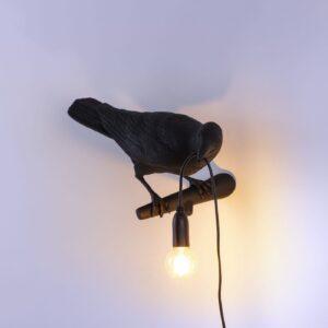 Seletti BIRD LAMP - looking Right indoor – black