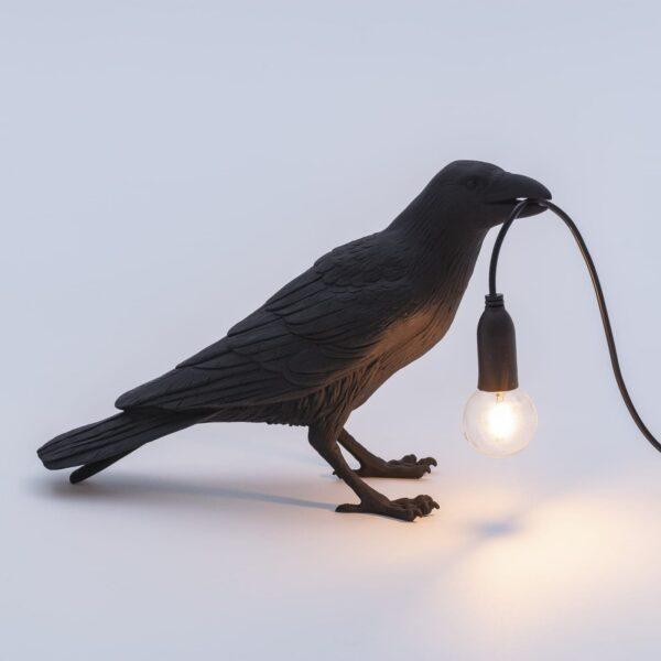 Seletti BIRD LAMP – waiting outdoor – black