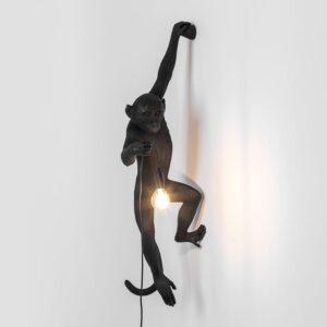 Seletti MONKEY LAMP – hanging left hand outdoor – black