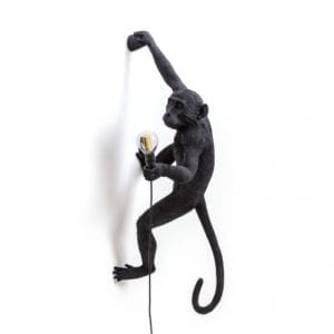 Seletti MONKEY LAMP – hanging right hand outdoor – black