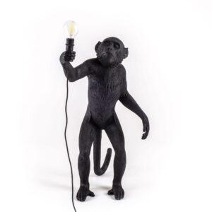 Seletti MONKEY LAMP - standing outdoor – black
