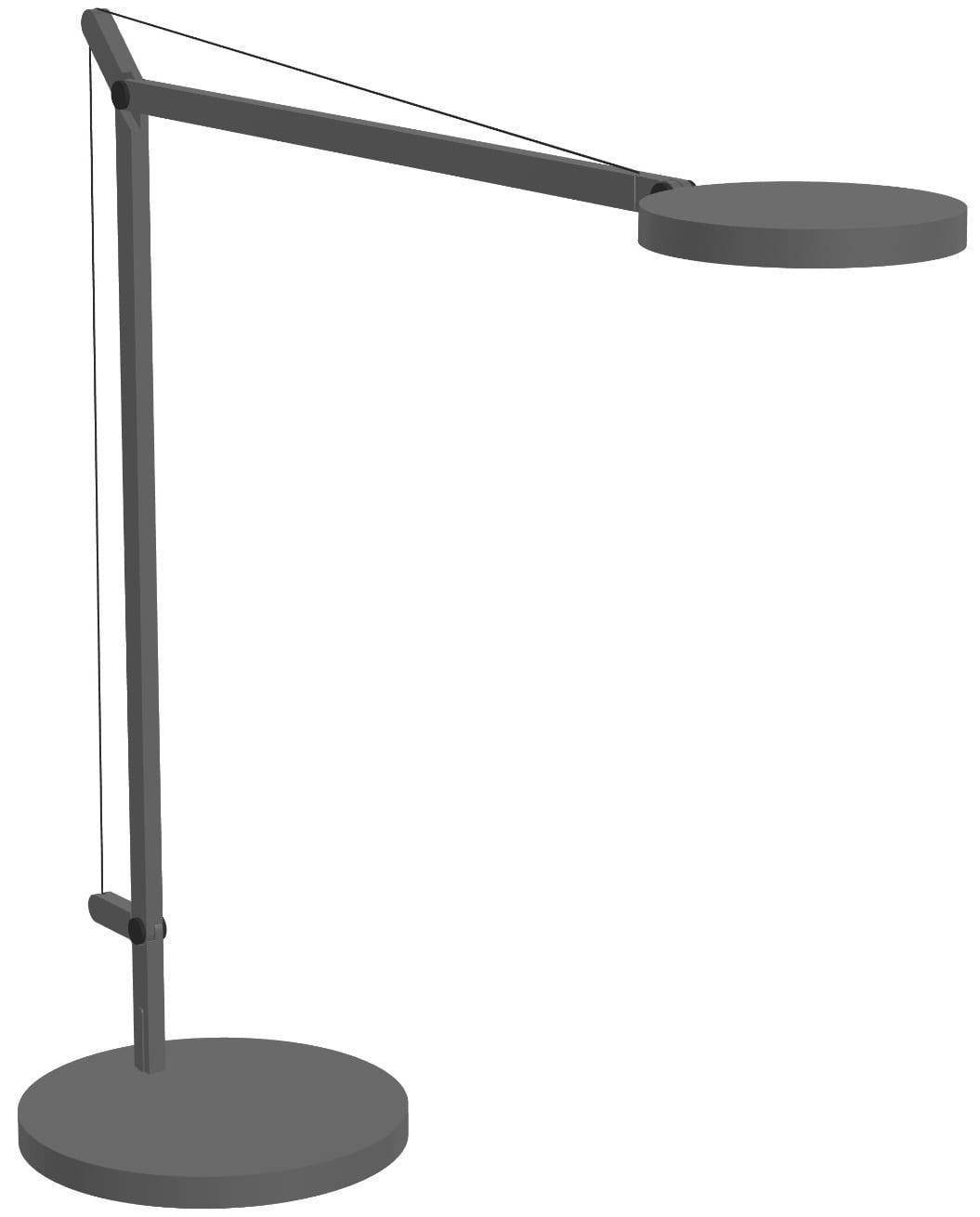 Artemide Demetra Table 3000k Grigio Base Tavolo Grigio Lid Design
