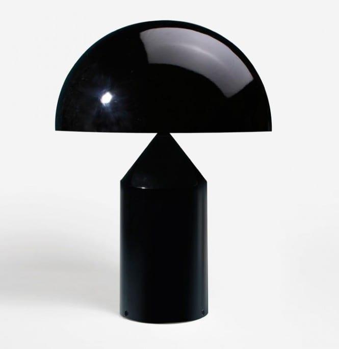 Oluce Atollo Media Tavolo Metallo Nero Lid Design