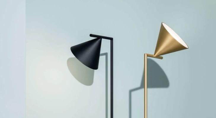 lampade ottone e marmo